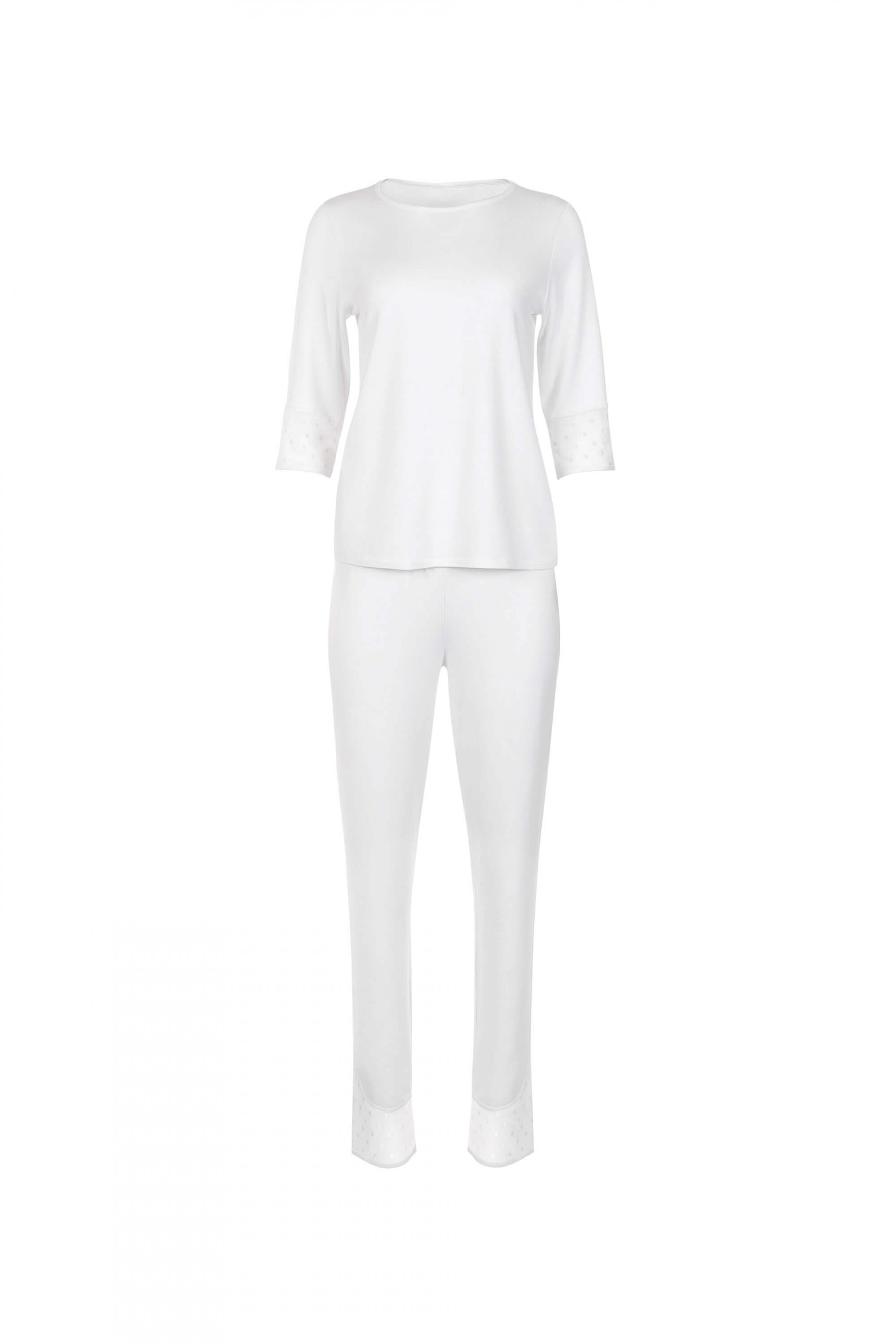63409 - »Romance« 3/4 Sleeve Top and Long Bottoms Pyjamas